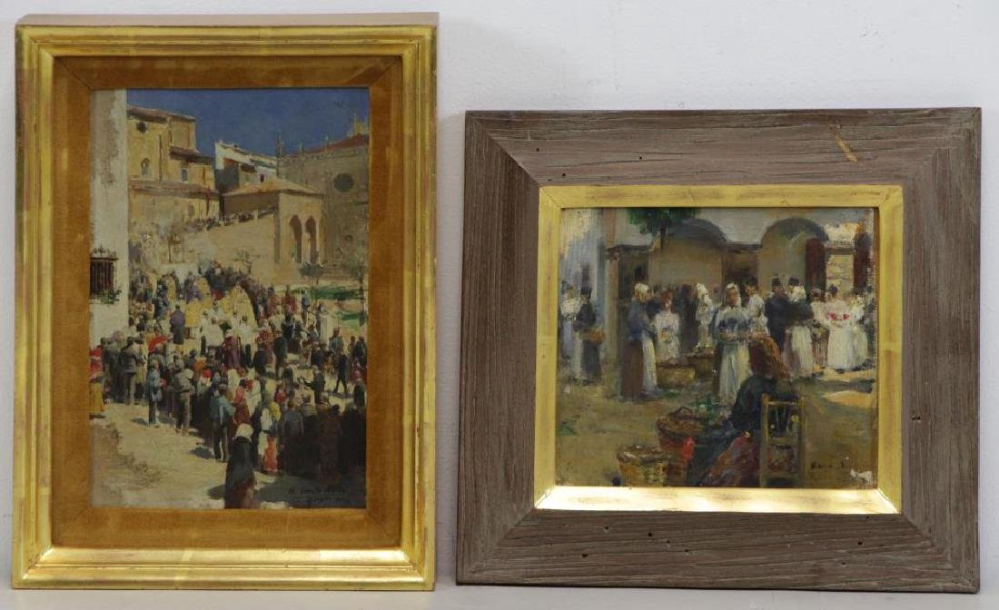 Two Late 19th C. Signed Oils.