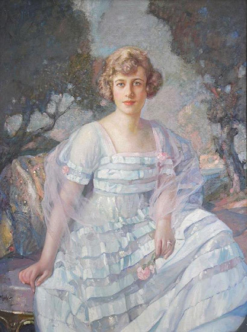 MILLER, Richard. Oil on Canvas. Portrait of a