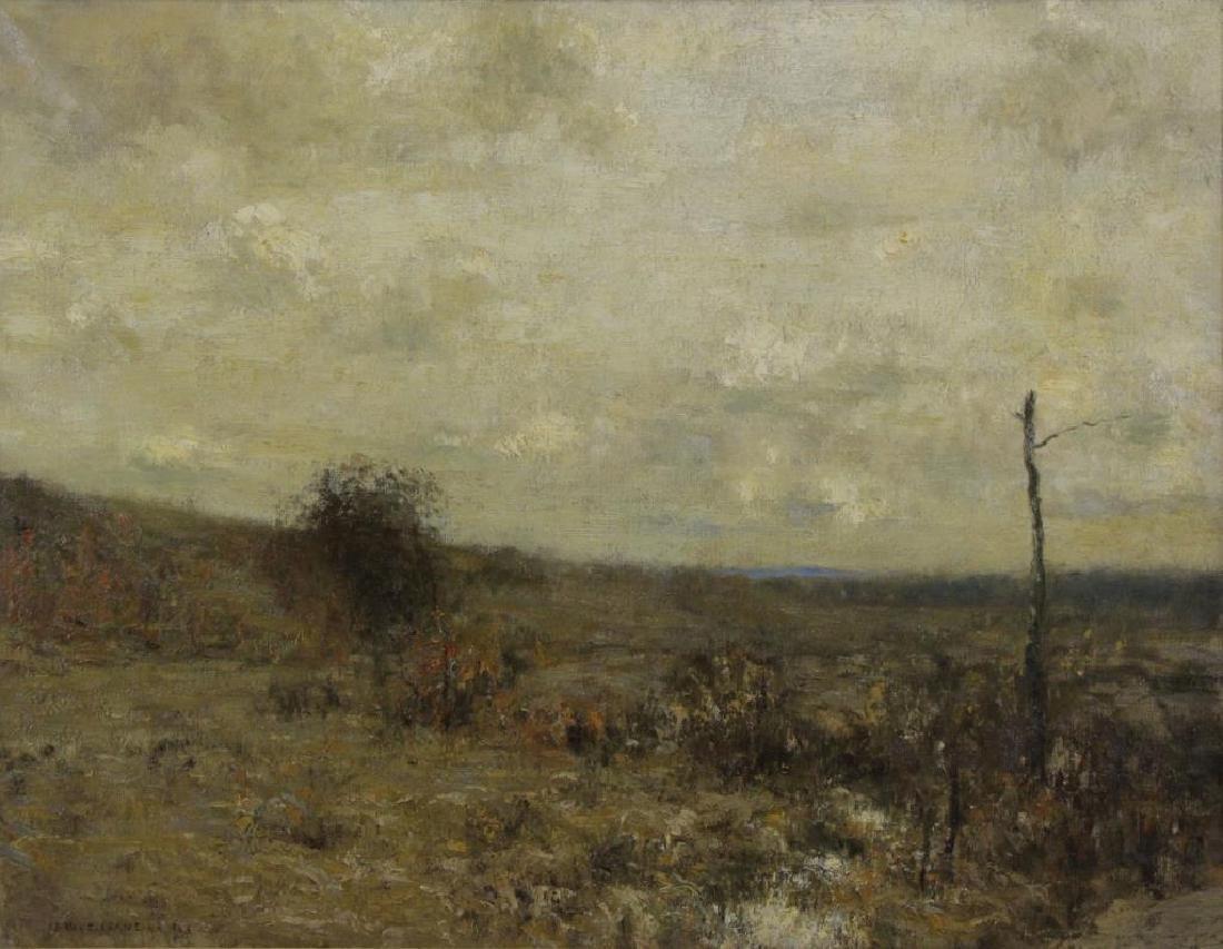 "CRANE, Bruce. Oil on Canvas. ""Fall Days"" 1923."