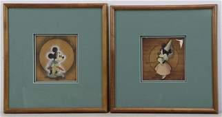 "Walt Disney Studios. ""Mickey & Minnie"" Cels, 1938."