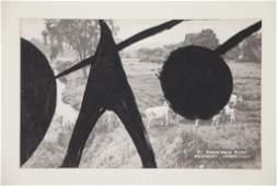 CALDER, Alexander. Gouache on Postcard.