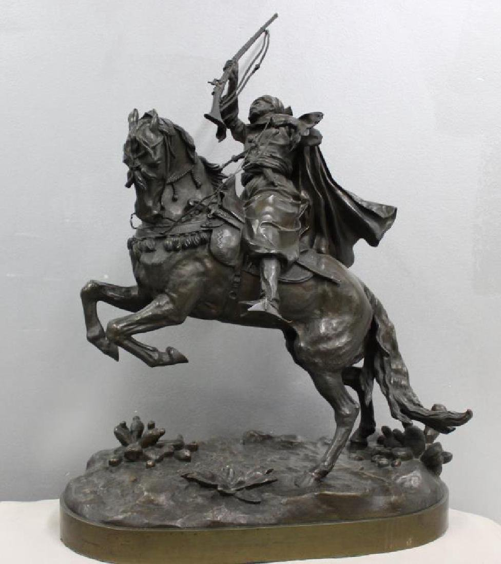 E. A. Lanceray Russian Bronze Cossack with Raised