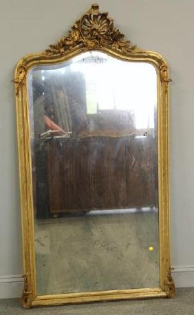 19th Century Carved and Giltwood Mirror.