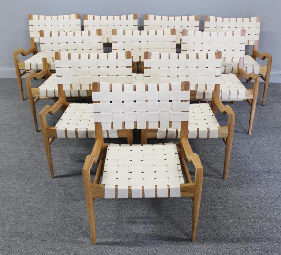 Midcentury Set of 10 John Keal Lounge Chairs.