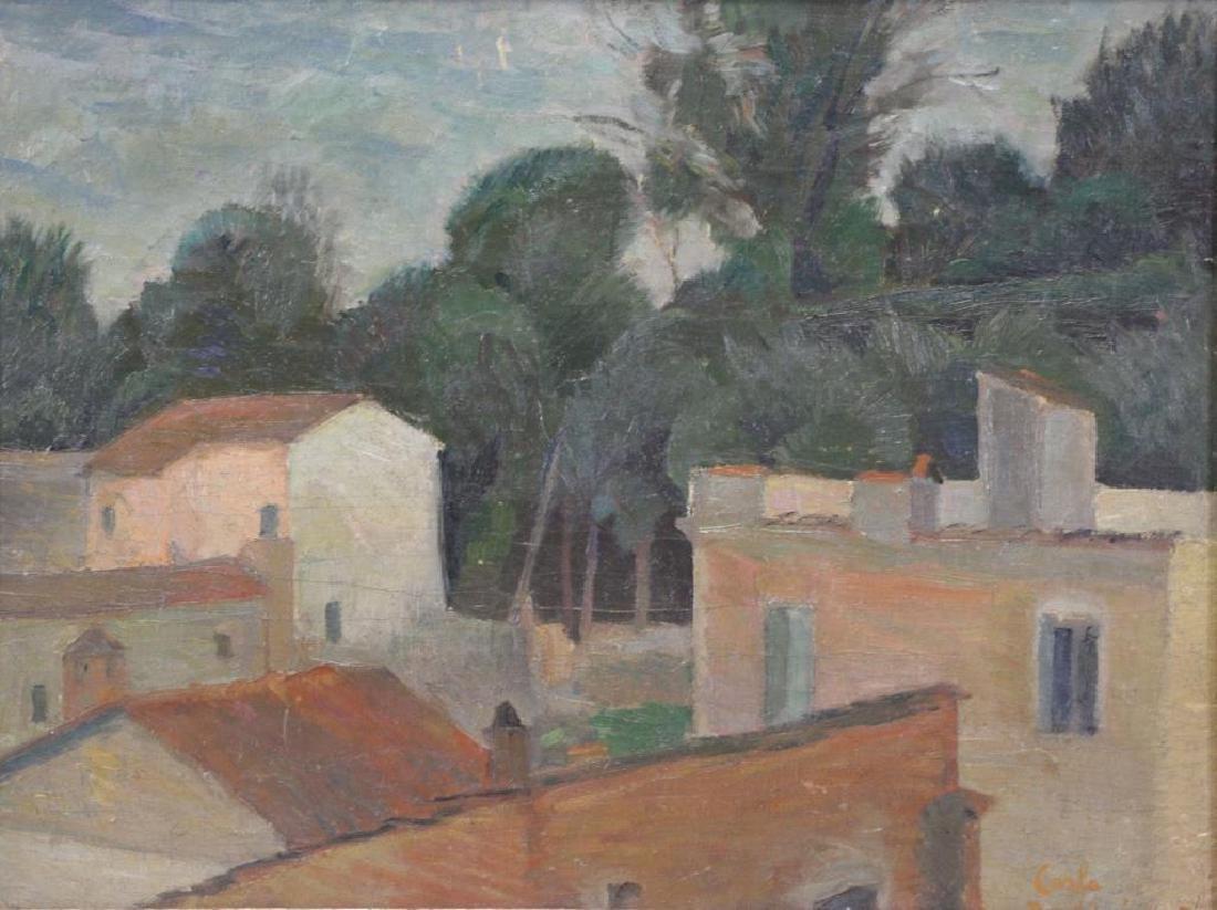BARBEIRI, Carlo. Oil on Canvas. Italian Houses.