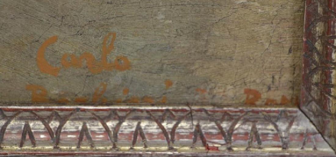 BARBEIRI, Carlo. Oil on Canvas. Italian Houses. - 3