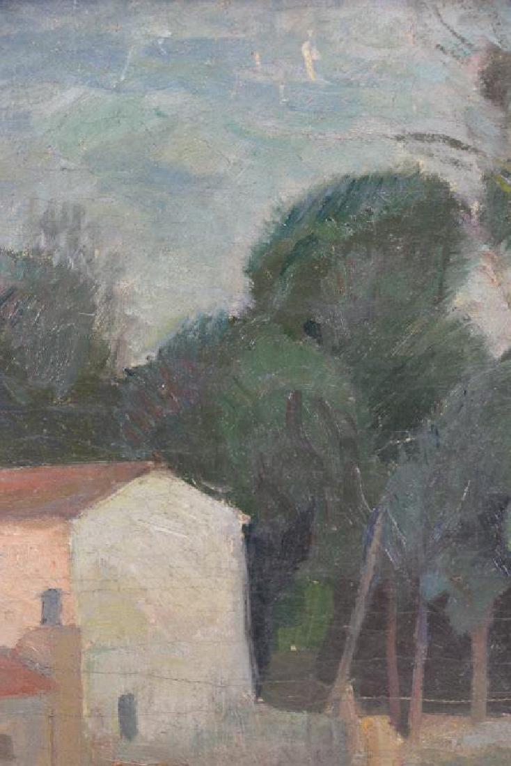 BARBEIRI, Carlo. Oil on Canvas. Italian Houses. - 4
