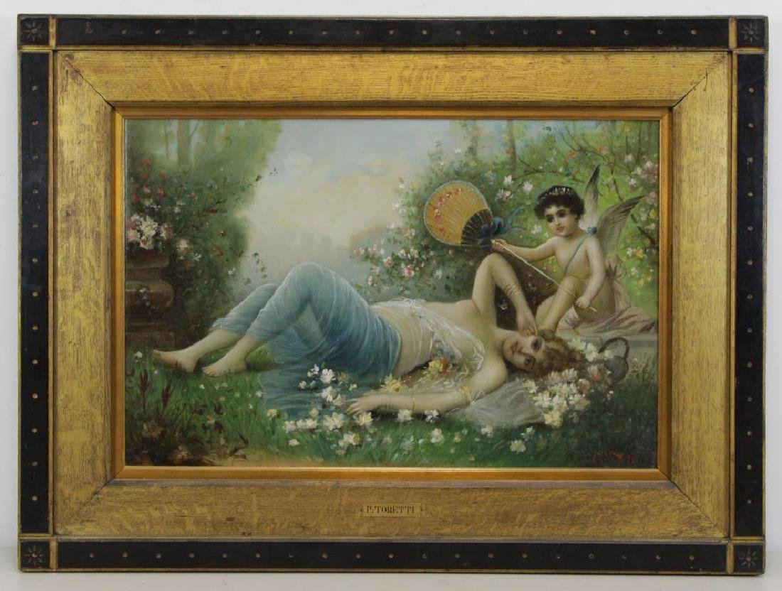 TORETTI, Pietro. Oil on Canvas. Reclining Beauty - 2