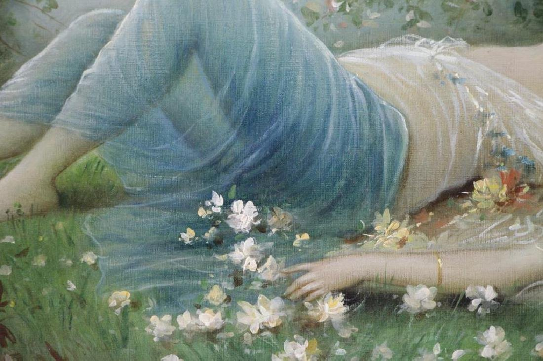 TORETTI, Pietro. Oil on Canvas. Reclining Beauty - 4