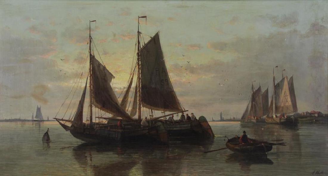HULK, Abraham. Oil on Canvas. Fishing Boats at