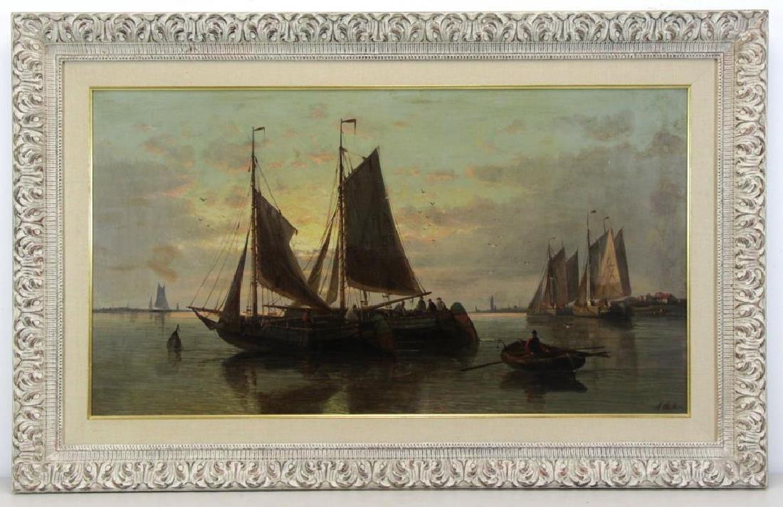 HULK, Abraham. Oil on Canvas. Fishing Boats at - 2