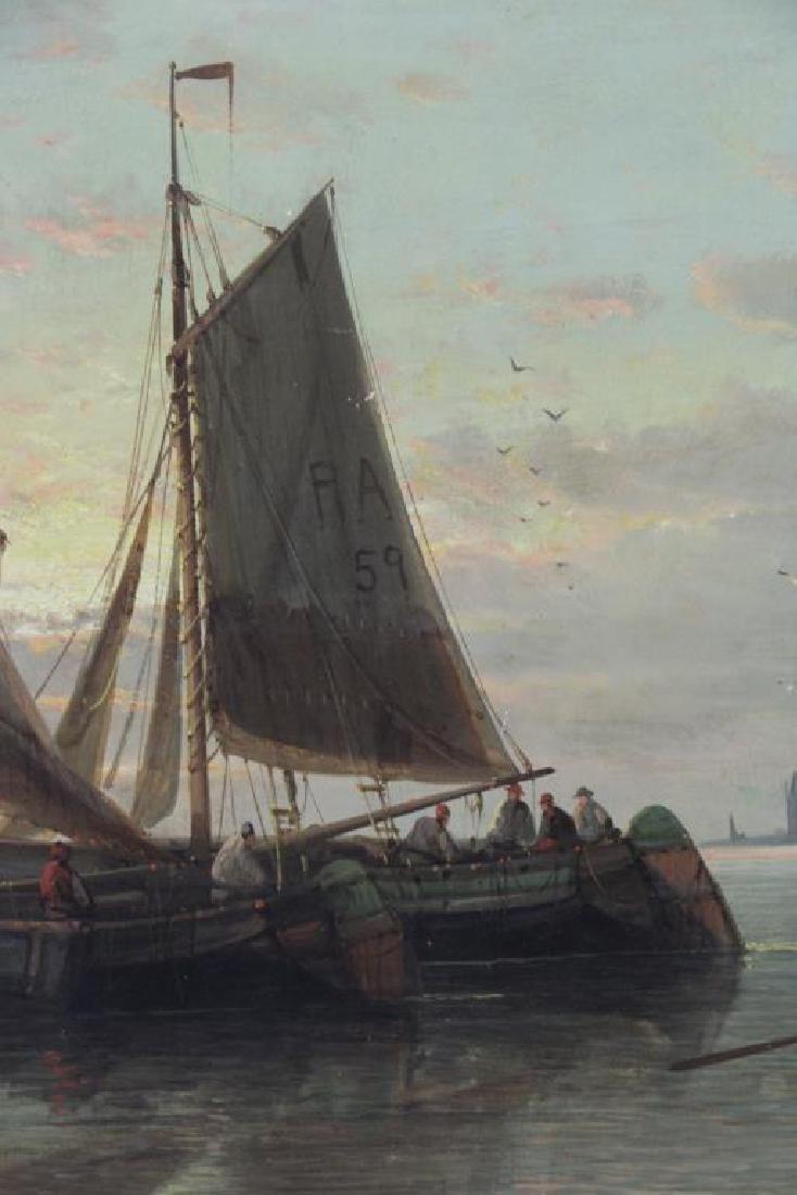 HULK, Abraham. Oil on Canvas. Fishing Boats at - 3