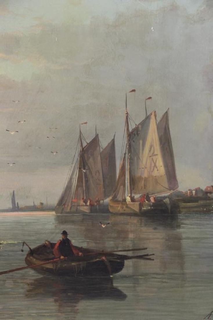HULK, Abraham. Oil on Canvas. Fishing Boats at - 4