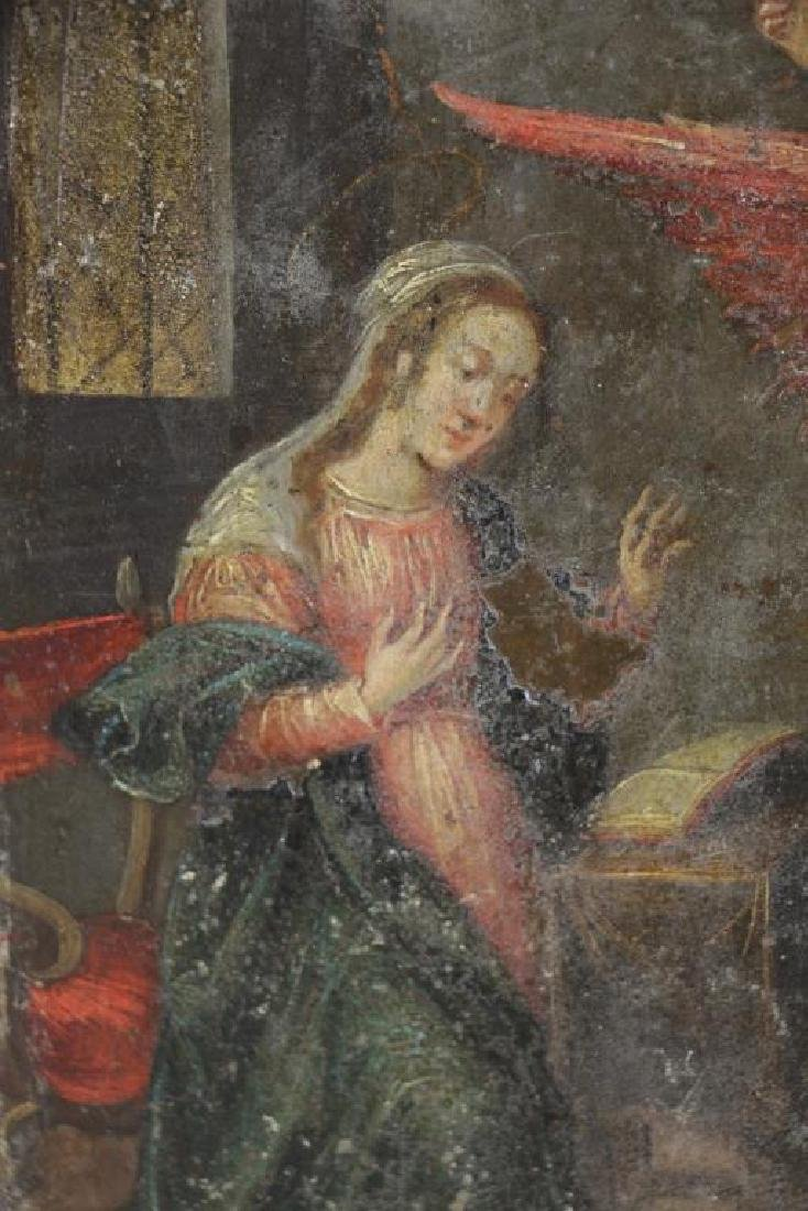 18th/19th C. Oil on Copper. The Annunciation. - 3