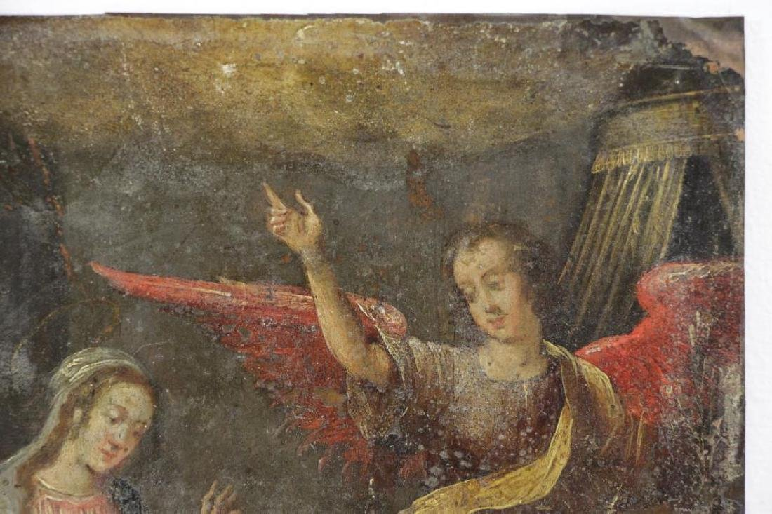 18th/19th C. Oil on Copper. The Annunciation. - 4