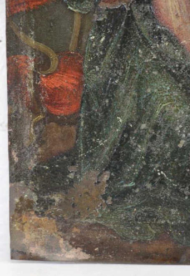 18th/19th C. Oil on Copper. The Annunciation. - 6