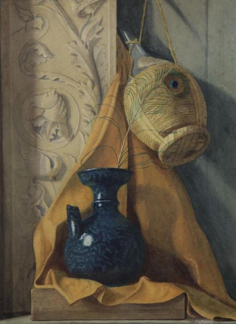 BROOKS, Nicholas. Watercolor on Paper. Still Life