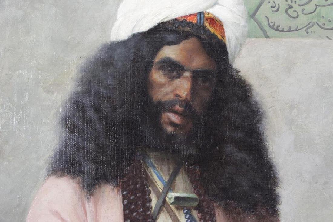 "TROJANOWSKI, Wincenty. ""Prayer"" Orientalist Oil on - 3"