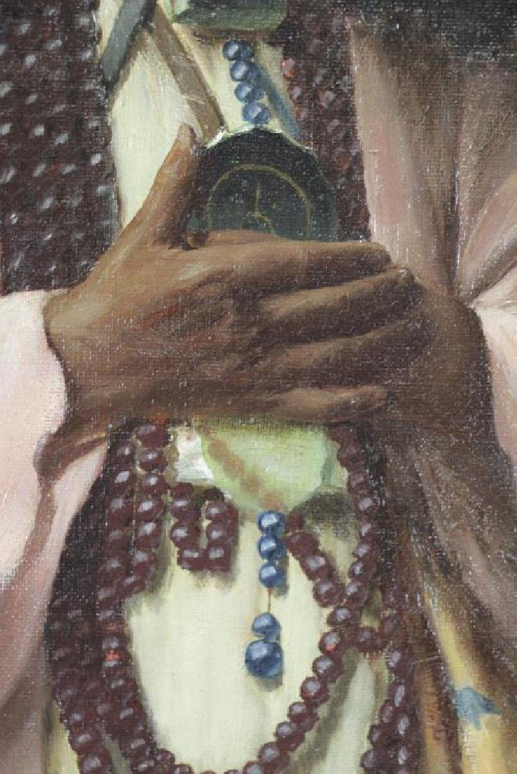 "TROJANOWSKI, Wincenty. ""Prayer"" Orientalist Oil on - 4"