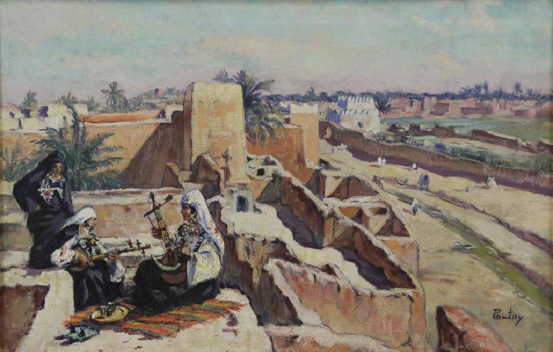 PONTOY, Henri Jean. Orientalist Oil on Canvas. The