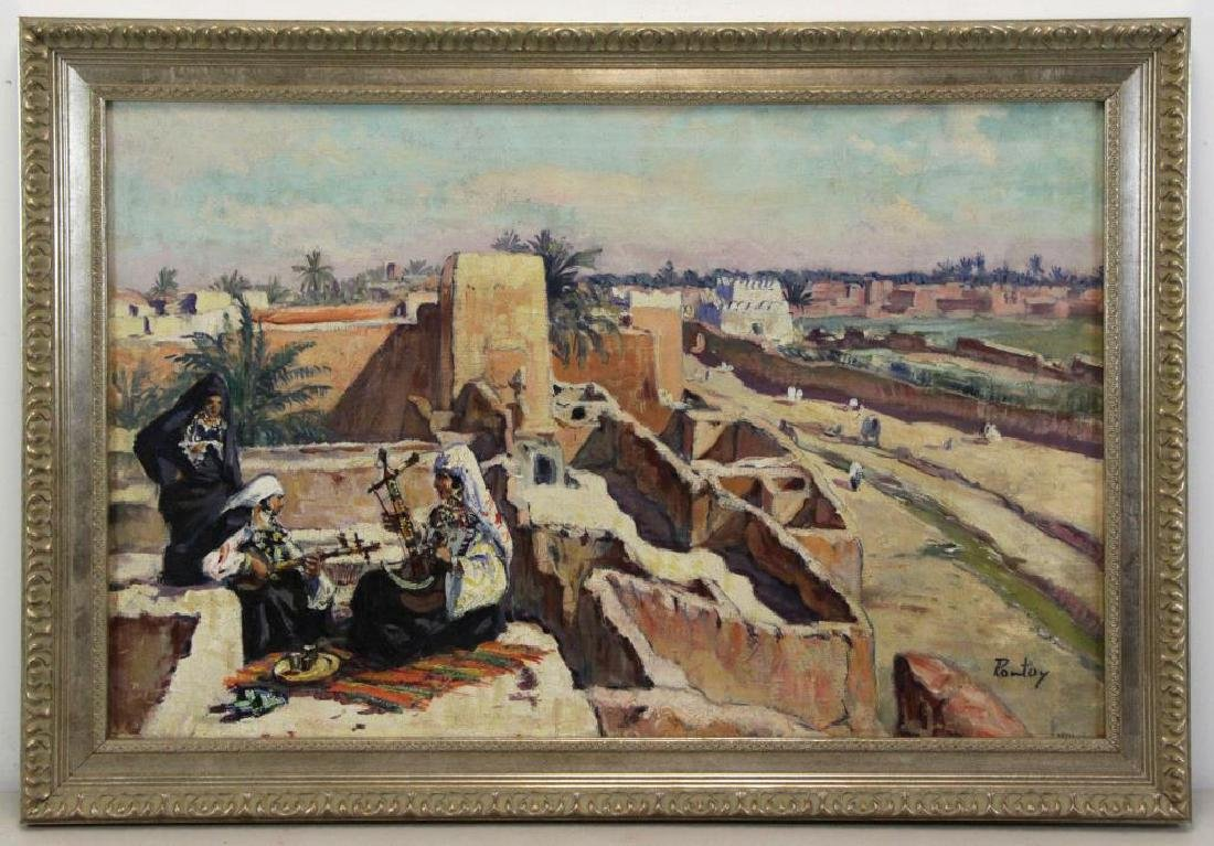 PONTOY, Henri Jean. Orientalist Oil on Canvas. The - 2