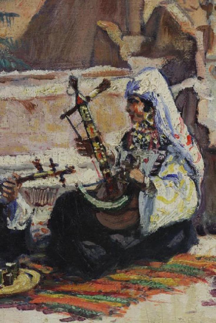 PONTOY, Henri Jean. Orientalist Oil on Canvas. The - 3
