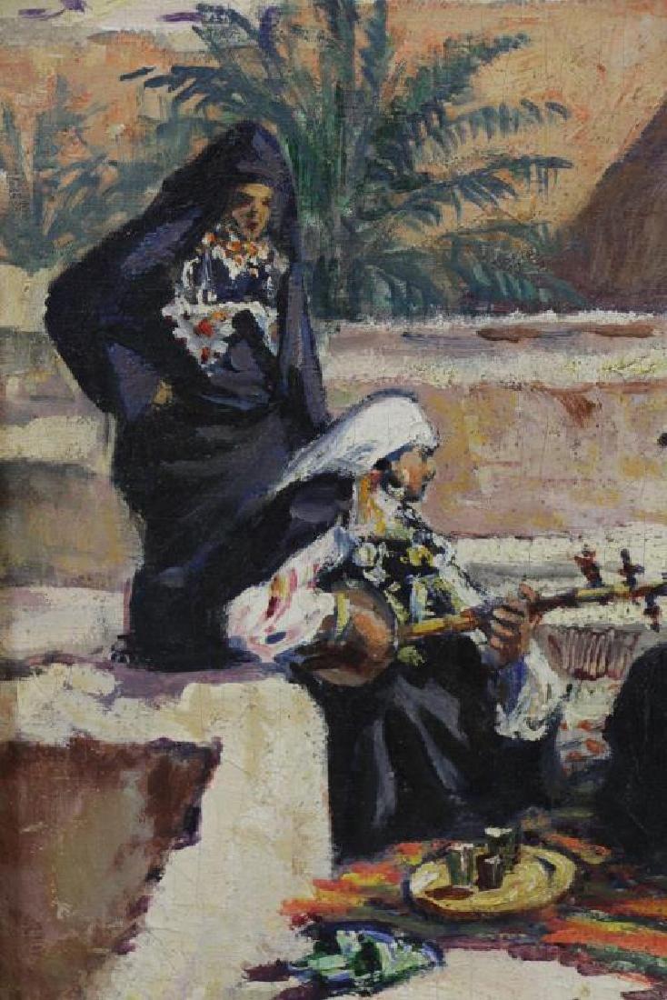 PONTOY, Henri Jean. Orientalist Oil on Canvas. The - 4