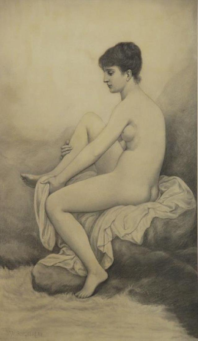 BOUGUEREAU, William (Attributed). Pencil on Paper.