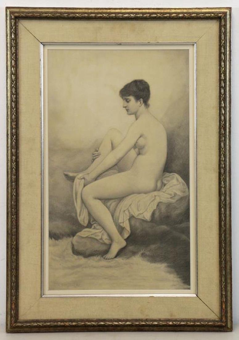 BOUGUEREAU, William (Attributed). Pencil on Paper. - 2
