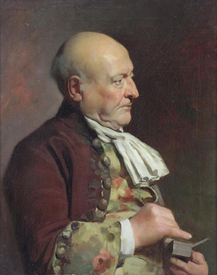 LUCAS, John Seymour. Oil on Canvas. Gentleman with