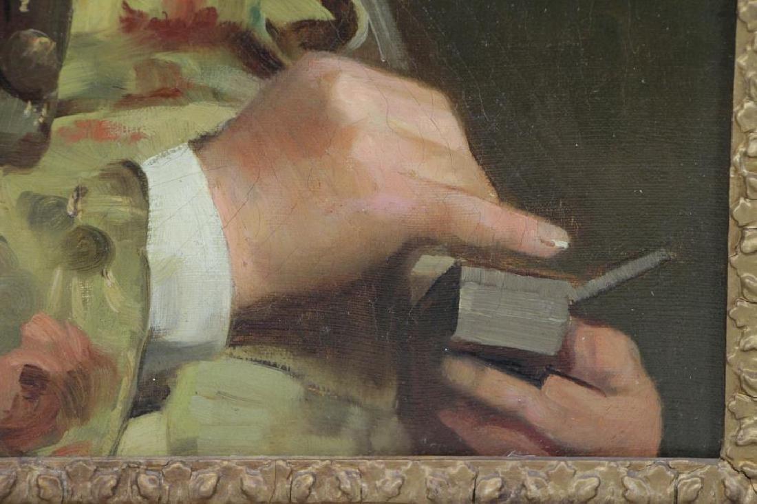 LUCAS, John Seymour. Oil on Canvas. Gentleman with - 4