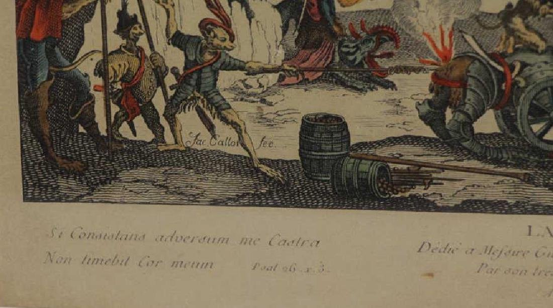 AFTER JACQUES CALLOT. Hand Colored Etching - 4
