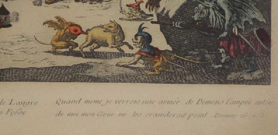AFTER JACQUES CALLOT. Hand Colored Etching - 5