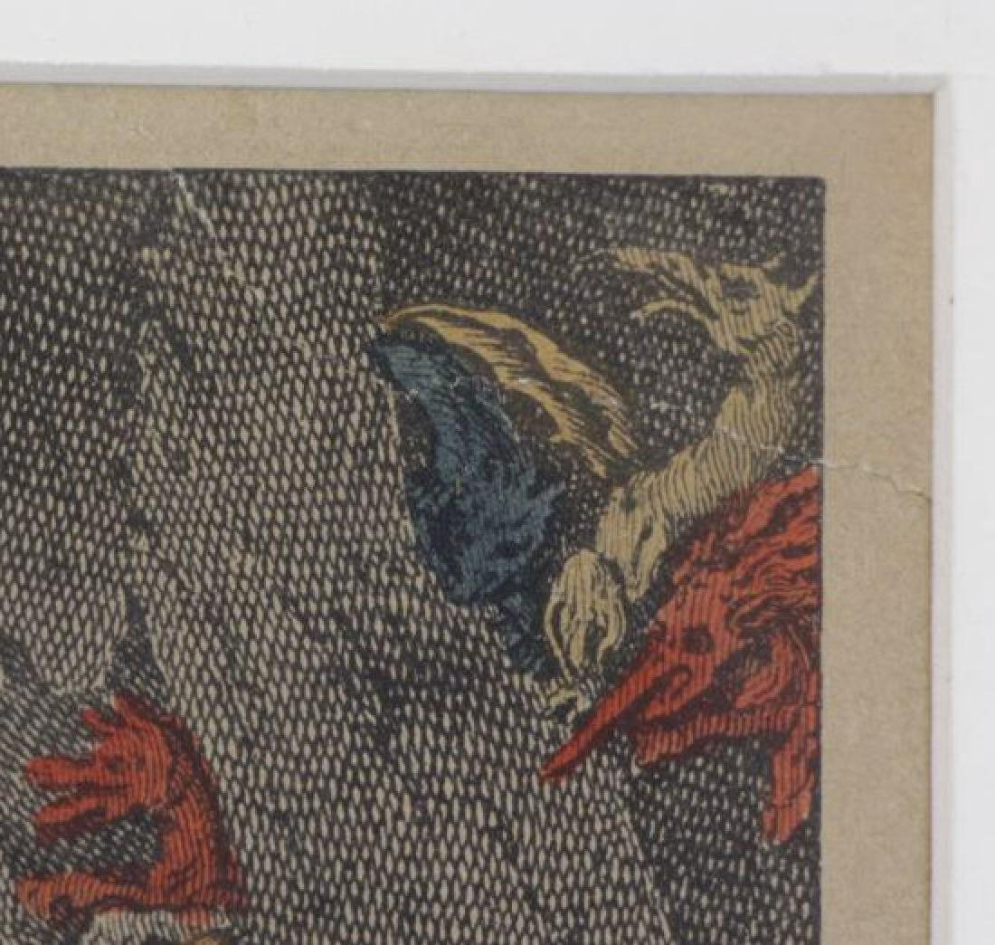 AFTER JACQUES CALLOT. Hand Colored Etching - 7