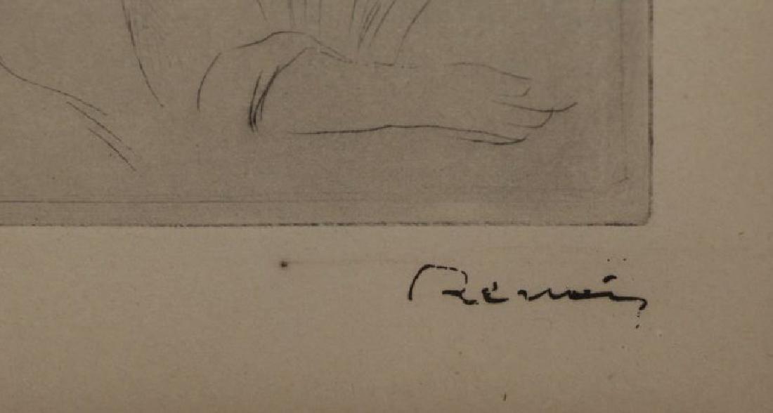 """RENOIR, Pierre-Auguste. Etching """"Le Chapeau - 4"""