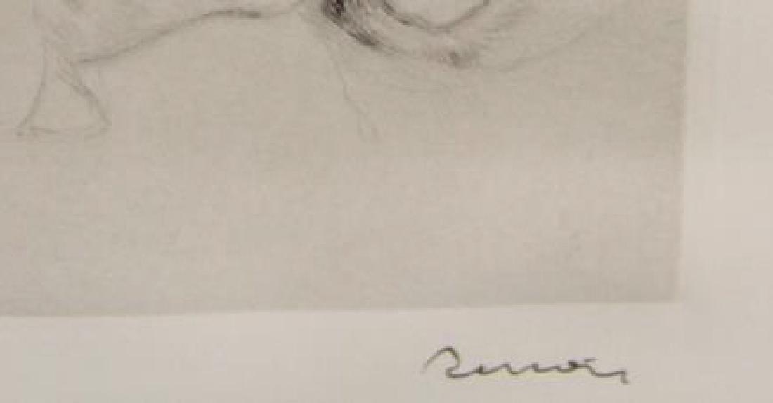 """RENOIR, Pierre-Auguste. Etching. """"Femme Nue - 4"""