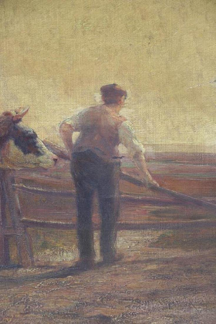 WALKER, Horatio. Oil on Canvas. Farmer with Cattle - 4
