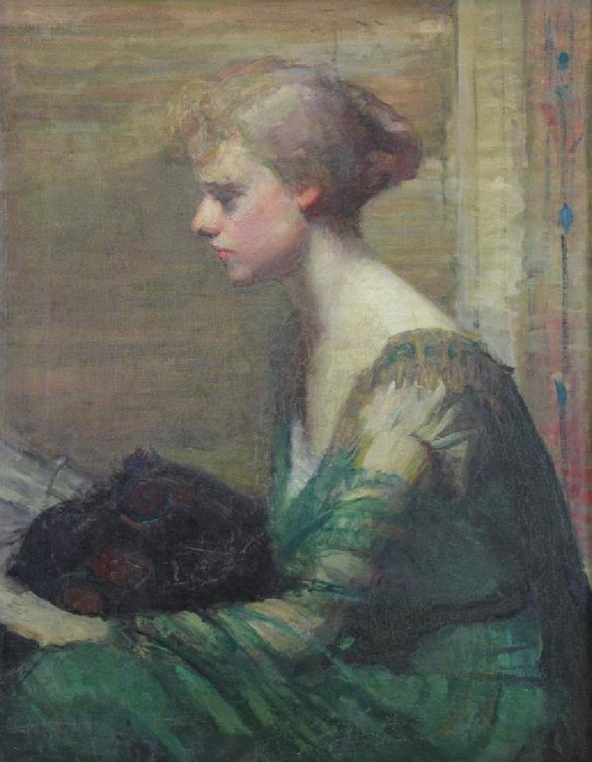 Initialed K.M.P. Impressionist Portrait of a Woman