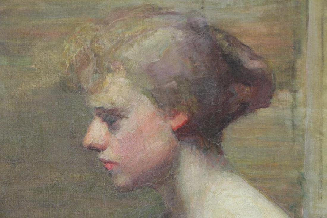 Initialed K.M.P. Impressionist Portrait of a Woman - 3