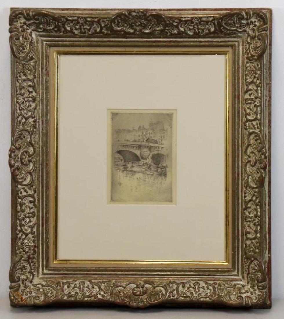 """MARIN, John. Etching """"Le Pont Neuf"""" 1905. - 2"""