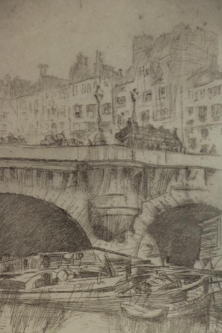 """MARIN, John. Etching """"Le Pont Neuf"""" 1905. - 3"""