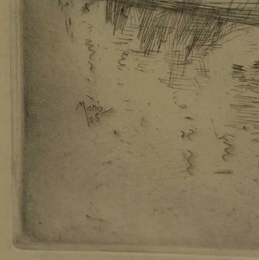 """MARIN, John. Etching """"Le Pont Neuf"""" 1905. - 4"""