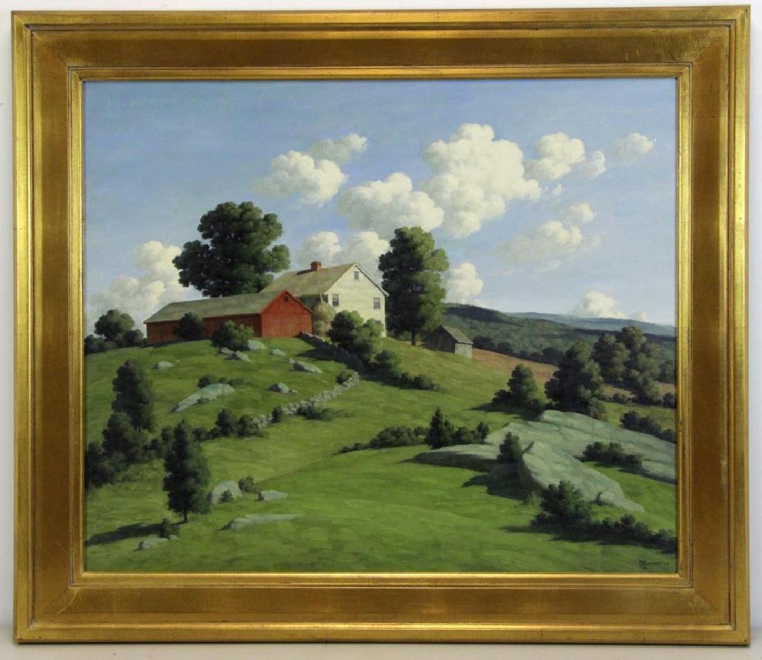 BRUESTLE, Bertram. Oil on Canvas. Farm House on a - 2