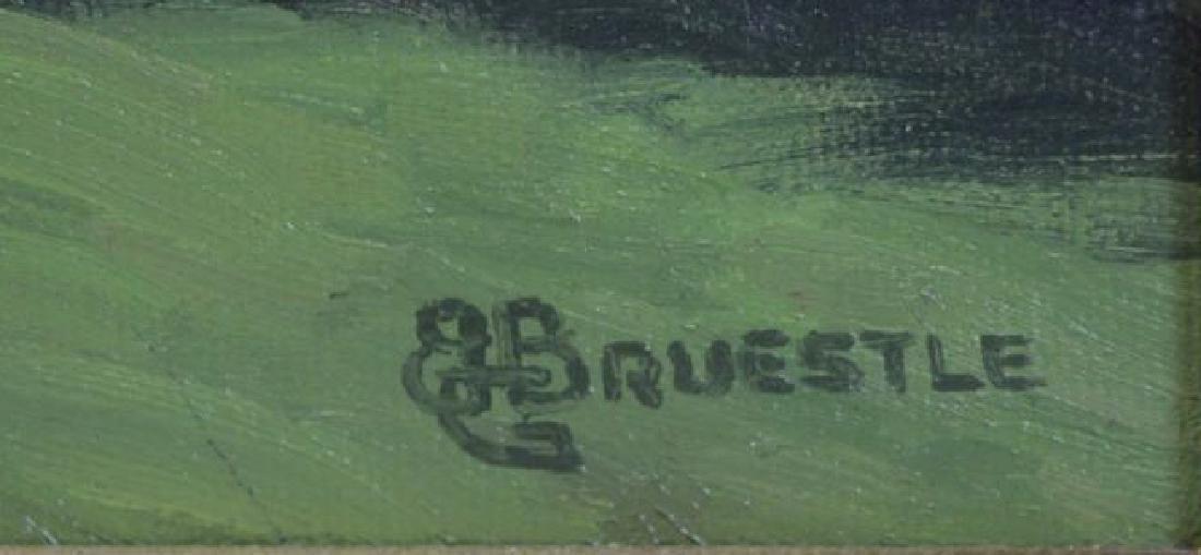 BRUESTLE, Bertram. Oil on Canvas. Farm House on a - 4