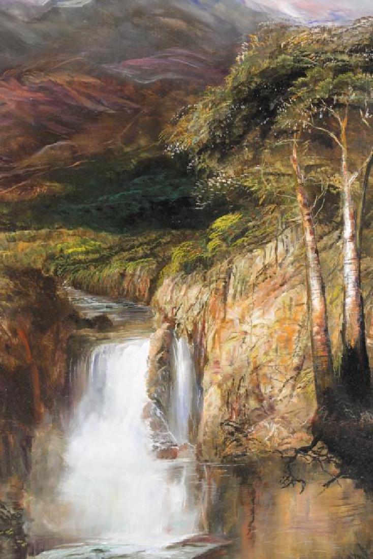 "HAMBLEN, Robert. Oil on Masonite. ""In the Andes"" - 3"