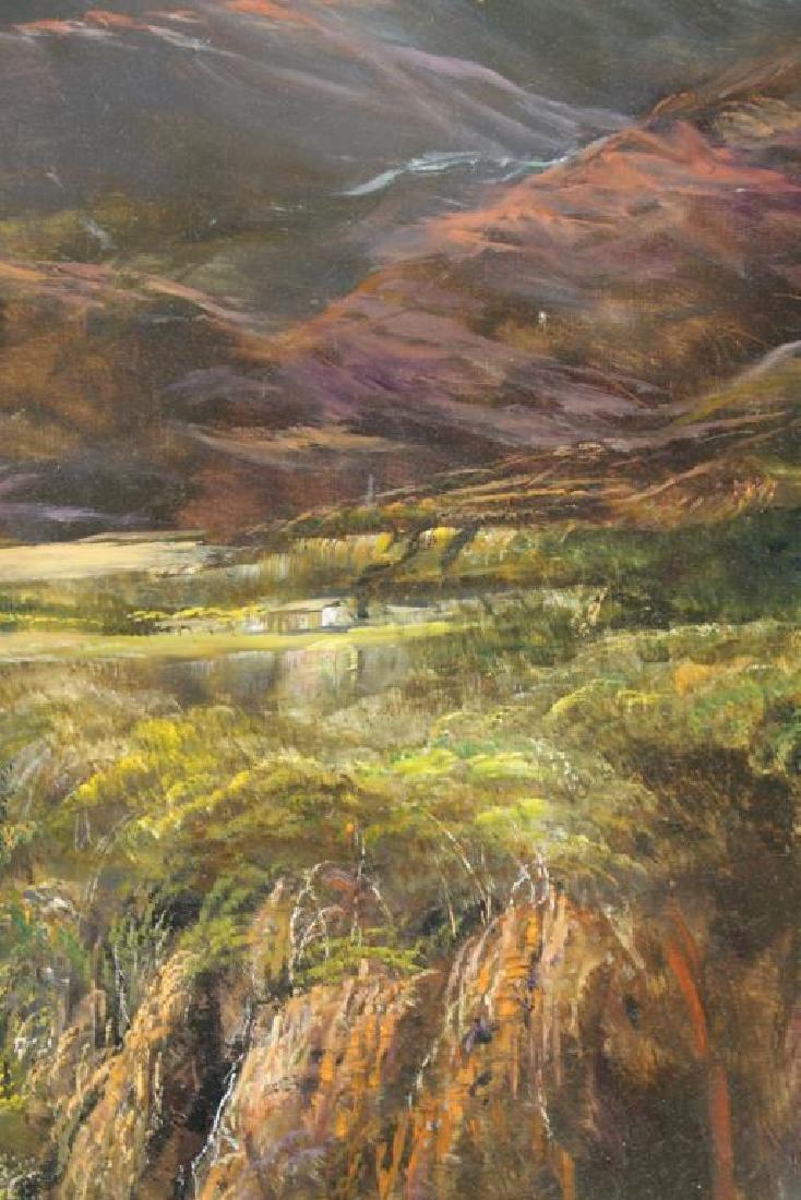 "HAMBLEN, Robert. Oil on Masonite. ""In the Andes"" - 4"