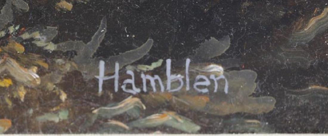 "HAMBLEN, Robert. Oil on Masonite. ""In the Andes"" - 5"