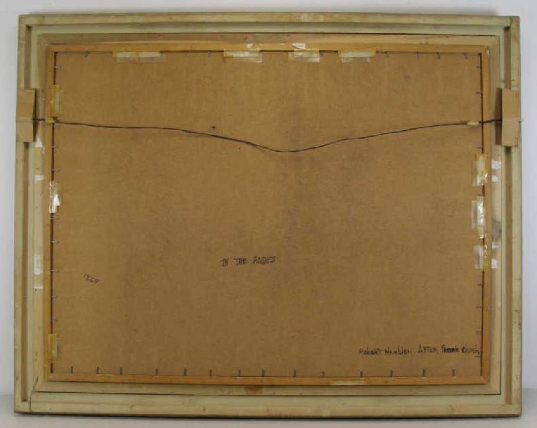 "HAMBLEN, Robert. Oil on Masonite. ""In the Andes"" - 6"