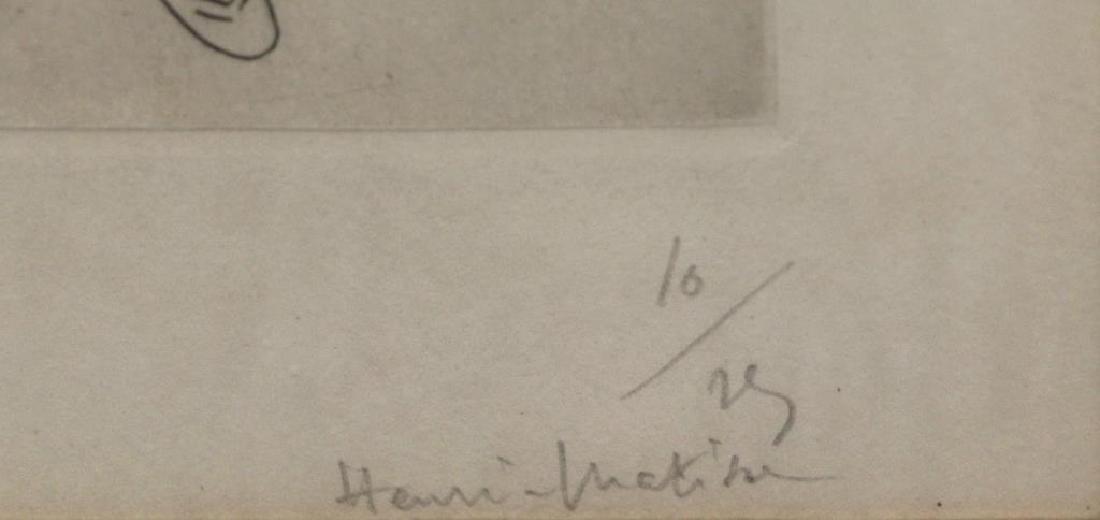 """MATISSE, Henri. """"Orientale assise, Voile sur la - 5"""