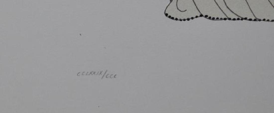 "ERTE. Serigraph. ""Rose Gown"". - 4"